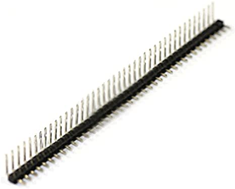 R 2 Pcs 40 Position 2.54mm Pitch Single Row Right Angle Male Pin Header SODIAL