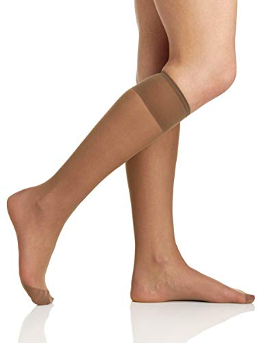 (Berkshire Women's All Day Sheer Knee Highs - Reinforced Toe, Pale Taupe, 8 1/2-11)