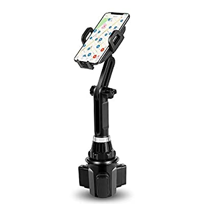 Cup Holder Phone Mount DALUZ Cell Phone Holder for Car with Adjustable Base and Flexible Gooseneck Compatible for iPhone 11 Pro/XR/XS Max/X Samsung Note 10+/ 9/8 / Galaxy S10 /S10+ /S9 Plus/ S8+