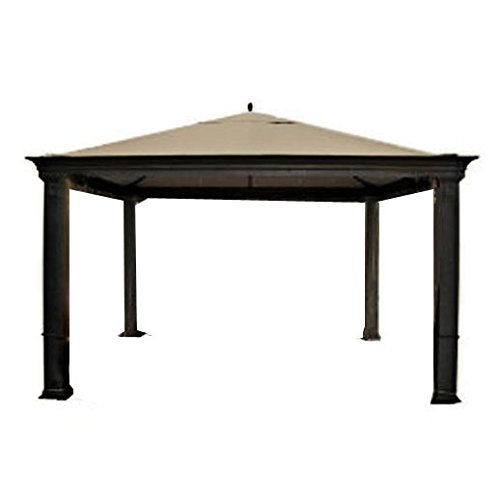 (Garden Winds LCM834B-RS Tiverton (Series 0) Gazebo RipLock 350 Replacement Canopy, Beige)