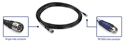 TRENDnet Low Loss Reverse SMA Female to N-Type Male Weatherproof Connector Cable TEW-L208 8M, 26.2ft.