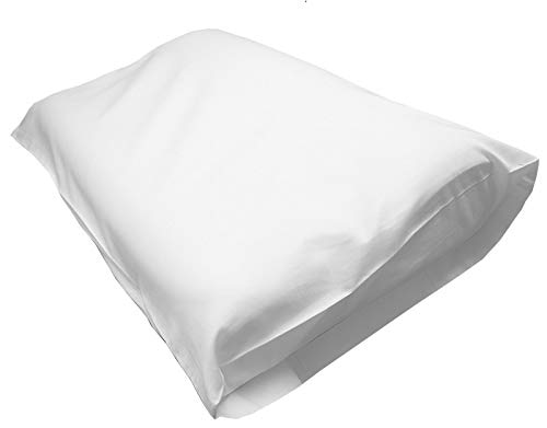 Gotcha Covered Inc Contour Memory Foam Cotton Pillowcase - Tempurpedic Neck Pillow Covering (White, Cotton, Percale, 400TC) - Foam Covered