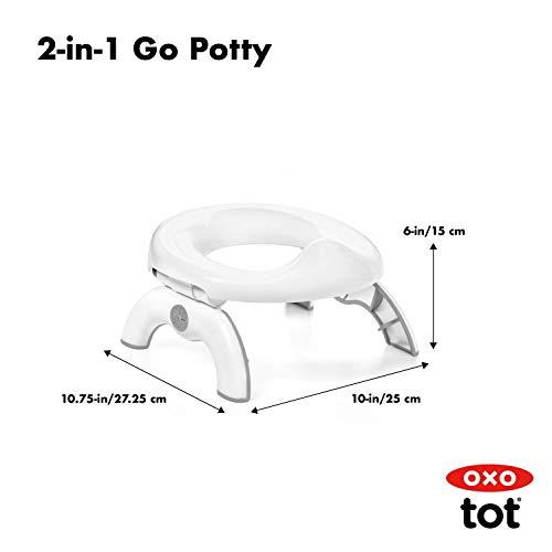 OXO Tot 2-in-1 Go Potty - Gray