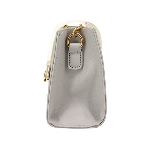 Crossbody Candice Cute Women Purse with Handbag Color Jelly Bag Bag Coffee Chain Shoulder Stripe wrwI15Sq