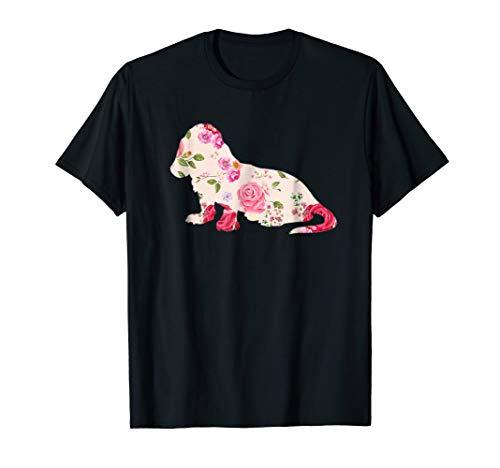 Basset Hound Flower T Shirt Basset Hound Dog -