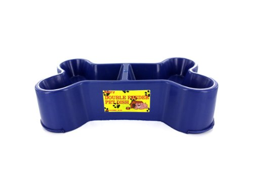 Bulk Buys Bone-shaped pet dish (assorted colors) Case Of 12 For Sale
