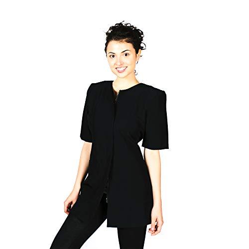 Smockers Cathy Professional Salon Smock, Stylist Jacket, Cosmetology Uniform Black