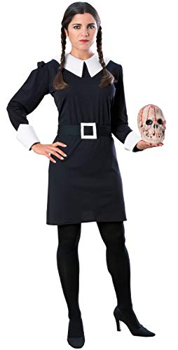 Uncle Fester On Addams Family (Rubie's Women's The Addams Family Wednesday Costume, Black,)