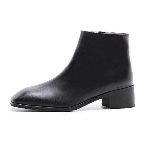 Elegante Mujer Antideslizante Moda Casual o Black Q3412 WSXY Martin Boots 38 Oto Botas Invierno KJJDE q7wSUS