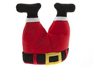 Novelty Christmas Santa Hat - Father Christmas Legs Stuck in Chimney]()
