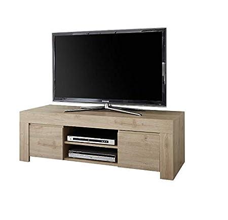 Arredocasagmb.it Mobile Base Porta TV 2 Ante Moderno Rovere Soggiorno Madia  Buffet con sportelli Design Fire 01