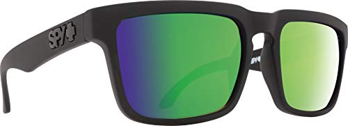 Spy Optic Helm Polarized Flat Sunglasses, Matte Black, 57mm (Spy Wayfarer)