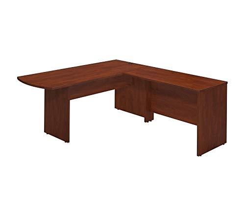 Bush Businеss Furniturе Office Home Furniture Premium Series C Elite 72W x 30D Peninsula Desk Shell with 48W Return in Hansen Cherry