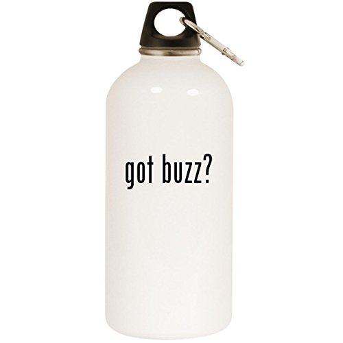 Molandra Products got Buzz? - White 20oz Stainless Steel Water Bottle with Carabiner (Gi Joe Buzz Aldrin)