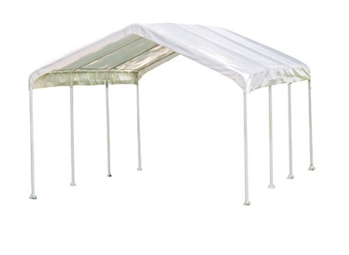 ShelterLogic 10 x 20 1-3/8'' 8-Leg Canopy, White by ShelterLogic