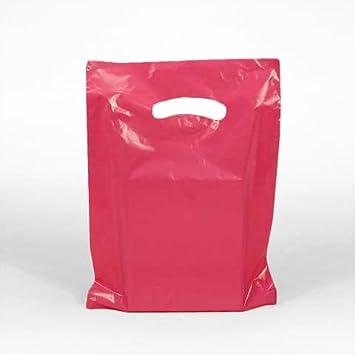 Amazon.com: De color rosa bolsas de plástico con asas de ...