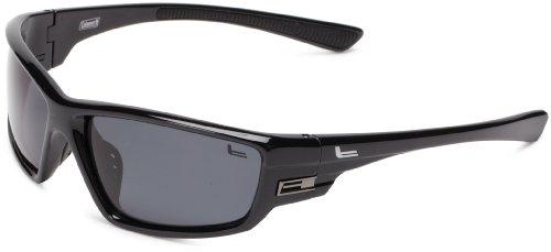 Coleman Intruder Polarized Wrap Sunglasses,Shiny Black,139 - Coleman Sunglasses