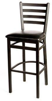 Oak Street Bar Stool metal ladder back seat to be specified silvervein finish - SL2301SV Bar Stool Seat Finish