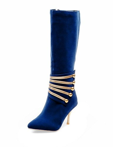 XZZ  Damen-Stiefel-Outddor   Büro   Lässig-Kunstleder-Stöckelabsatz-Absätze   Modische Stiefel-Schwarz   Blau   Rot B01KPZT6F4 Sport- & Outdoorschuhe eine große Vielfalt von Waren
