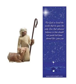 - Willow Tree Shepherd and Goat Individual Nativity Figurine with Nativity Bookmark