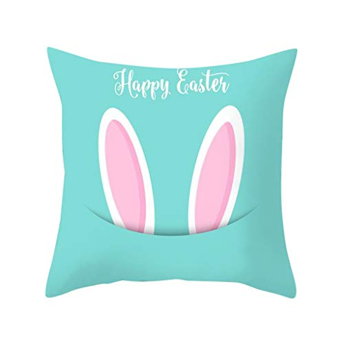 ❤️Ywoow❤️, Easter Rabbit Print Pillow Case Polyester Sofa Car Cushion Cover Home Decor