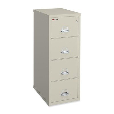 Fireproof Four Drawer Legal Size Vertical File 25″D Parchment
