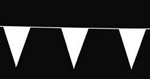 White Pennant flag banner - 100 feet ()