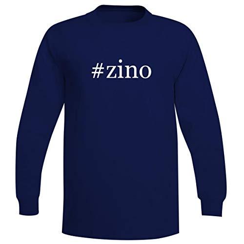 The Town Butler #Zino - A Soft & Comfortable Hashtag Men's Long Sleeve T-Shirt, Blue, XXX-Large