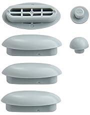 WC-bril | Doppen voor toiletbril | Afstandhouder voor wc-bril | Dempers | Wit | Kunststof