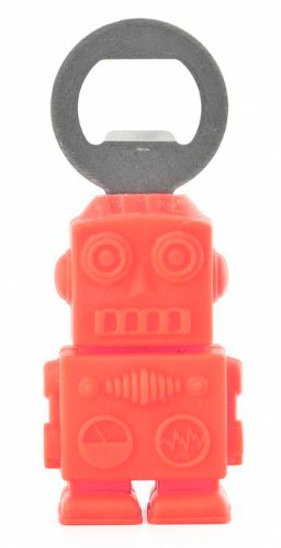 Kikkerland BO16 Red Robot Bottle Opener