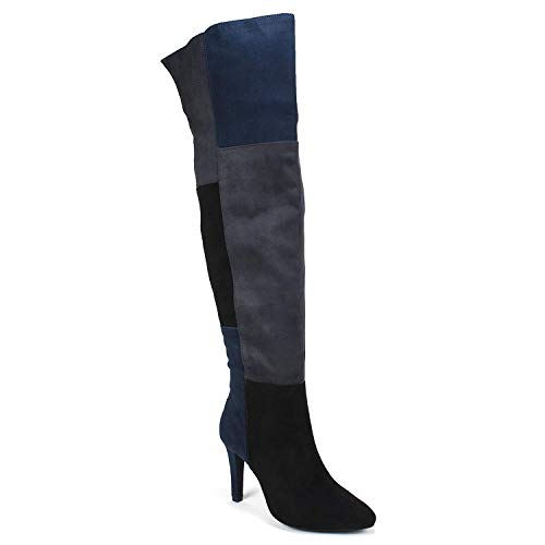 RIALTO Womens Carpio Faux Suede Over-The-Knee Boots Navy 5 Medium (B,M)