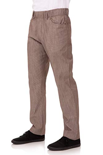 Chef Works Men's Vertical Stripe Pant