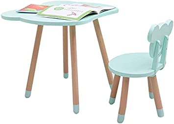 Juego de mesa y silla de madera para niños 1 Mesa 1 Silla Juego de escritorio y silla de jardín de infantes para interior Mesa de juego de actividades/Green: Amazon.es: Bricolaje y