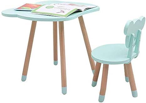 Juego de mesa y silla de madera para niños 1 Mesa 1 Silla Juego de ...