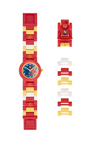 ClicTime Boys' LEGO The Flash Analog Quartz Watch with Plastic Strap, Red, 20 (Model: 8021582) (Lego Minifigure Kid Flash)