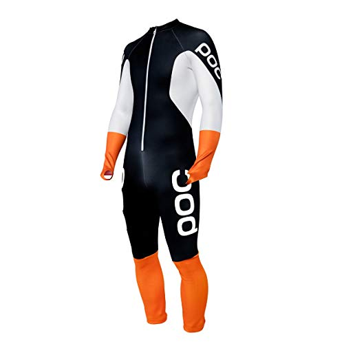 Gs Racing Suit - POC Skin GS JR Racing Suit, Children's Racing Suit, Uranium Black/Hydrogen White, 170