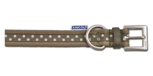 Ancol Choc Polka Dog Collar, 40cm/ 16-inch
