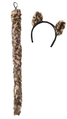 Forum-Novelties Cougar Lion Ears & Tail Set Funny Theme Halloween Accessory -
