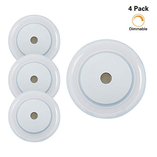 (3W RV Boat LED Touch Ceiling Light - Dimmer DC 12V 2800K Soft White Memory Light Annular Frosted Lens with Stepless Dimmable, Surface Mount, Hidden Fasteners Design for Boat Camper Ccabinet, Pack of 4)