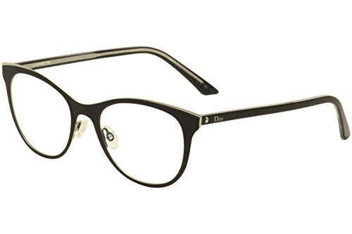 Christian Dior Eyeglasses Montaigne No.13 GAQ Black/Crystal Optical Frame 52mm