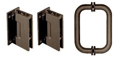 CRL Geneva Hinge and Handle Set for Frameless Glass Shower Doors in Oil Rubbed Bronze  sc 1 st  Amazon.com & CRL Geneva Hinge and Handle Set for Frameless Glass Shower Doors in ...
