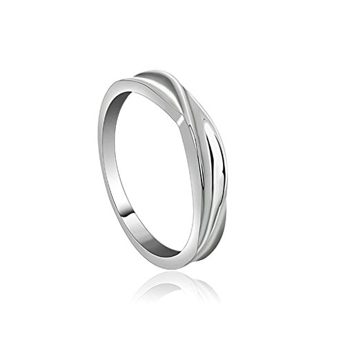 - Daesar Gold Plated Rings Women Wedding Bands Intersect Smooth Thin Slim Promise Ring for Women Size 10.5