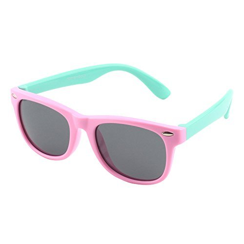 CGID Soft Rubber Kids Polarized Sunglasses for Children Age 3-10,K02