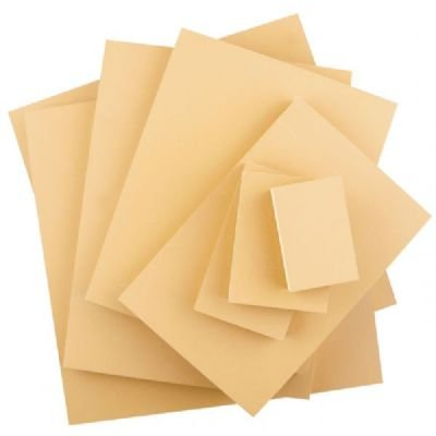 12 Pack 3'' x 4'' Smokey Tan Linoleum Blocks (Product Catalog: Tools) by Speedball