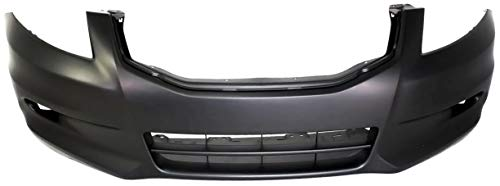 Front Bumper Cover Compatible with 2011-2012 Honda Accord Primed 6 Cyl Sedan