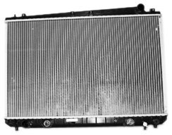 (TYC 2427 Toyota Sienna 1-Row Plastic Aluminum Replacement Radiator )