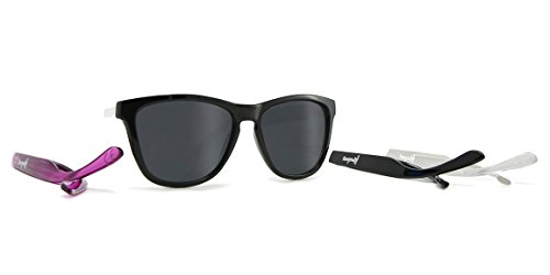 Kameleonz SoCal Black Frame/Black Lens 52mm Wayfarer - Sunglasses Customize Wayfarer