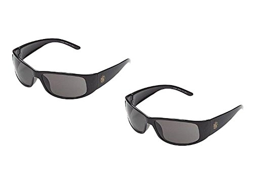 ESSENDANT Set of 2 Jackson Smith & Wesson Elite Safety Glasses with Black Frame and Smoke Anti-Fog Lens Bundled by Maven - Wesson And Glasses Smith