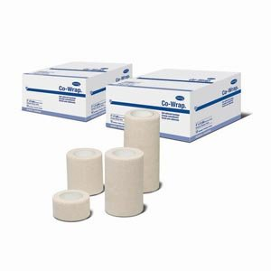 Hartmann 29100000 Co-Wrap Self-Adherent Compression Bandage, 1'' Width, 5 yd. Length (Pack of 96)