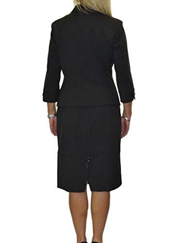 Diseñador Negocio Traje 50 Mujer Mirada Oficina O Con Ice A Negro De Falda 36 Para Zx0C0wq